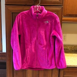 North Face Pink Fleece Jacket